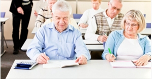 seniors attending a medicare seminar