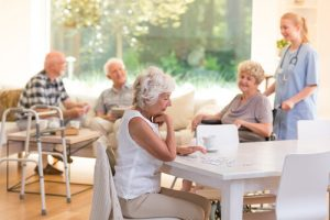 seniors in a nursing home
